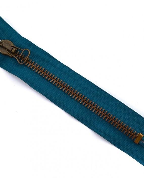 Молния 16 см металл, неразъемная, декоративная 0050 цвет синий картинка