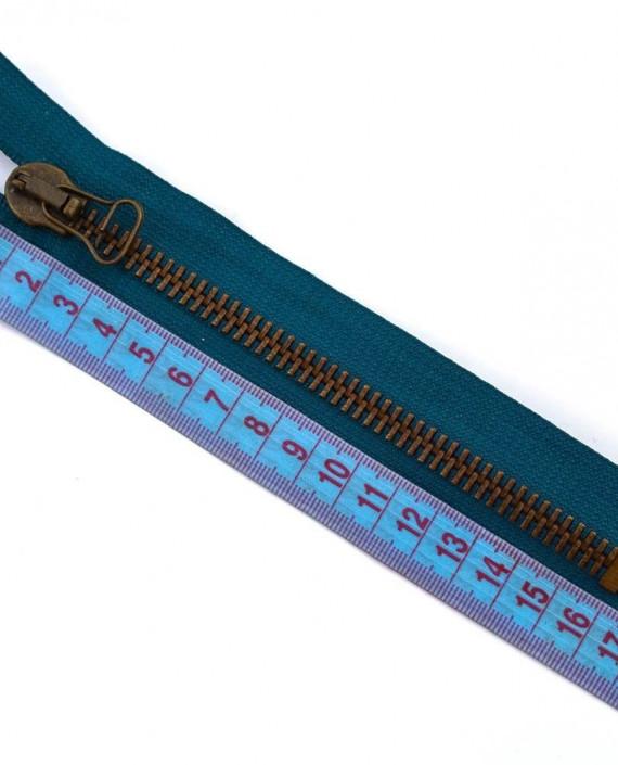 Молния 16 см металл, неразъемная, декоративная 0050 цвет синий картинка 1
