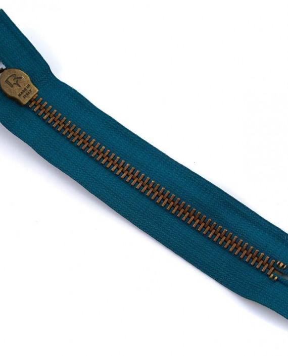 Молния 16 см металл, неразъемная, декоративная 0050 цвет синий картинка 2