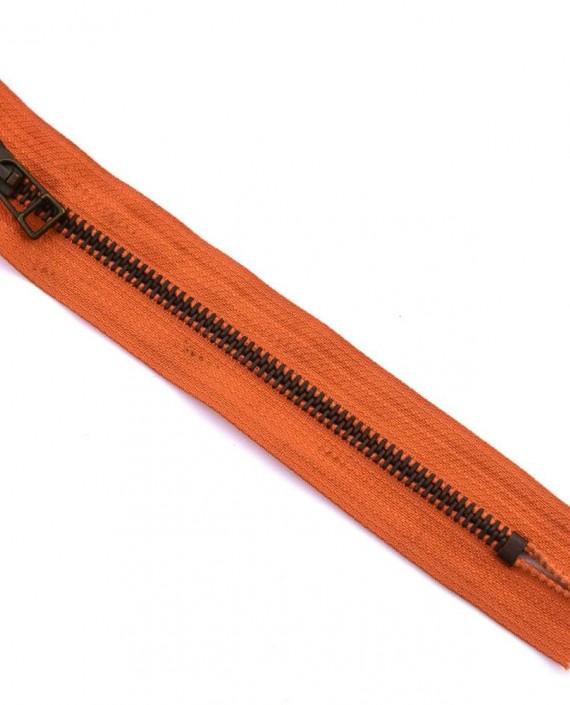 Молния 16 см металл, неразъемная 0054 цвет оранжевый картинка