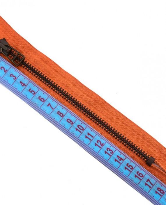 Молния 16 см металл, неразъемная 0054 цвет оранжевый картинка 1