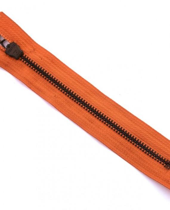 Молния 16 см металл, неразъемная 0054 цвет оранжевый картинка 2