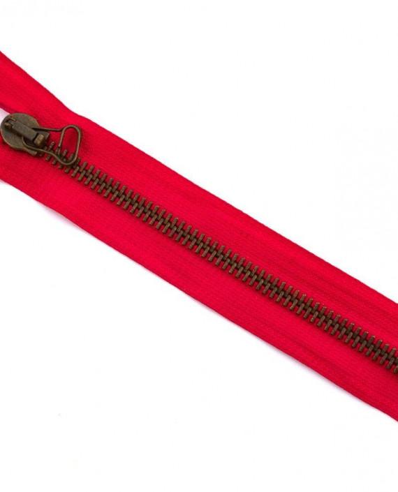 Молния 17 см металл, неразъемная 0060 цвет красный картинка