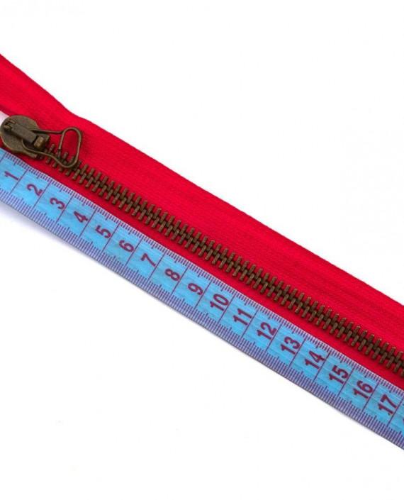 Молния 17 см металл, неразъемная 0060 цвет красный картинка 1