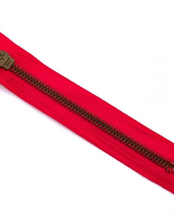 Молния 17 см металл, неразъемная 0060 цвет красный картинка 2