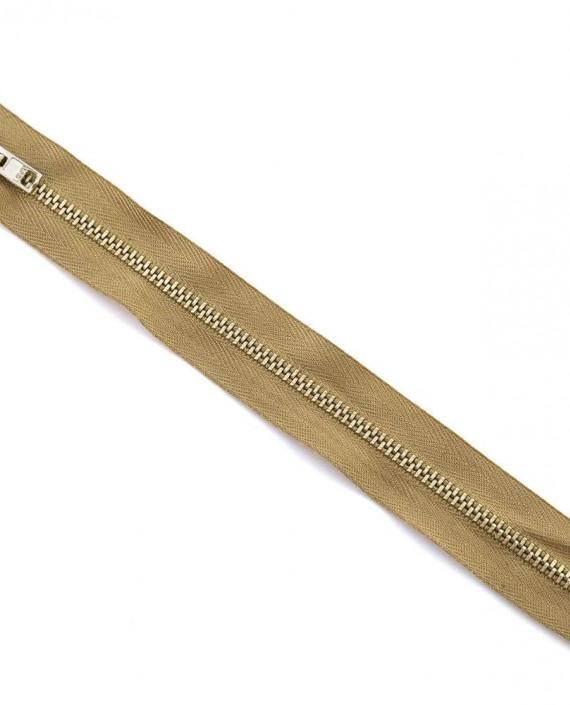 Молния 19 см металл, неразъемная 0072 цвет бежевый картинка