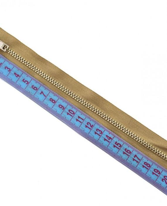 Молния 19 см металл, неразъемная 0072 цвет бежевый картинка 1