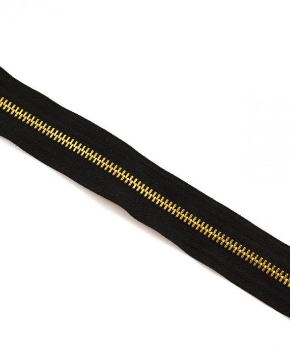 Молния 22 см металл, неразъемная 0084 цвет черный картинка 2