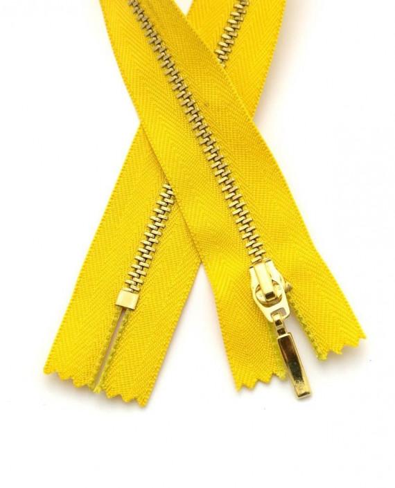 Молния 33 см металл, неразъемная 0098 цвет желтый картинка