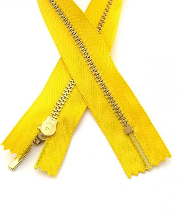 Молния 33 см металл, неразъемная 0098 цвет желтый картинка 1