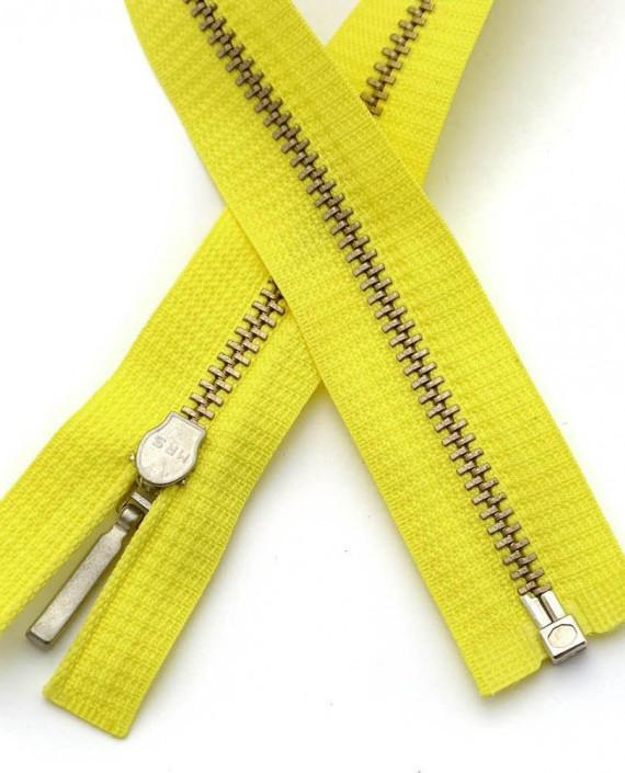 Молния 41 см металл, разъемная 0115 цвет желтый картинка 2