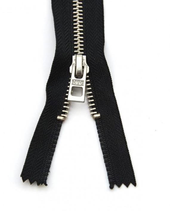 Молния 47 см металл, двухзамковая, декоративная 0354 цвет черный картинка 1