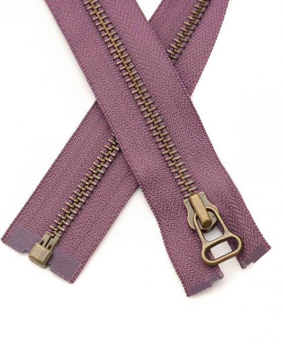 Молния 48 см металл, разъемная, декоративная 0362 цвет фиолетовый картинка