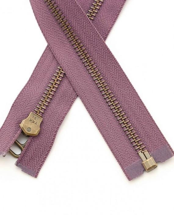 Молния 48 см металл, разъемная, декоративная 0362 цвет фиолетовый картинка 2