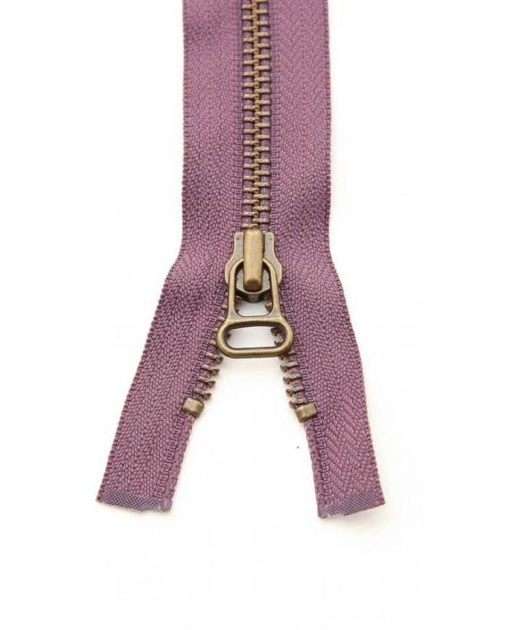Молния 48 см металл, разъемная, декоративная 0362 цвет фиолетовый картинка 1