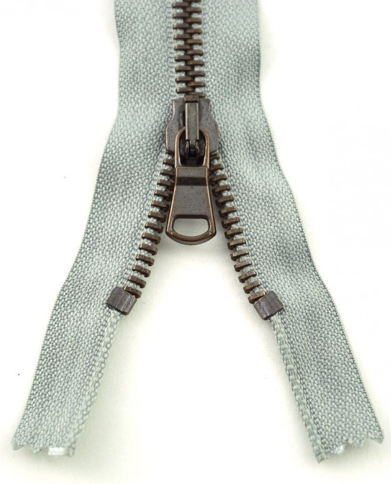 Молния 51 см металл, разъемная 0810 цвет серый картинка 2