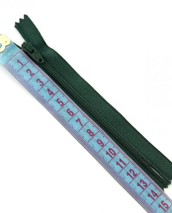 Молния 12 см пластик, неразъемная 0483 цвет зеленый картинка 2
