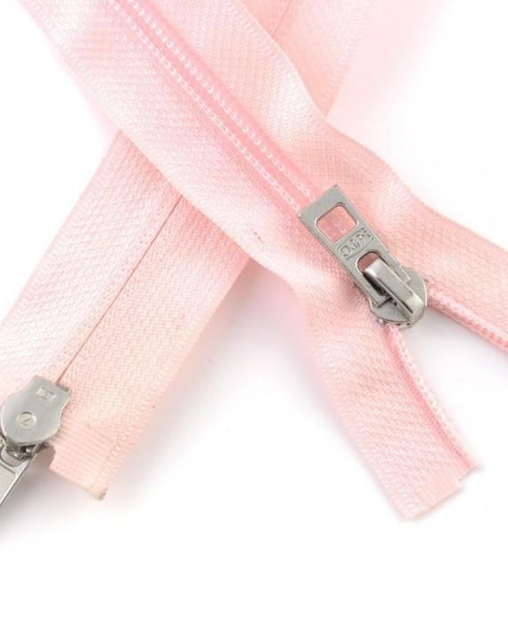 Молния 66 см пластик, двухзамковая 0962 цвет розовый картинка