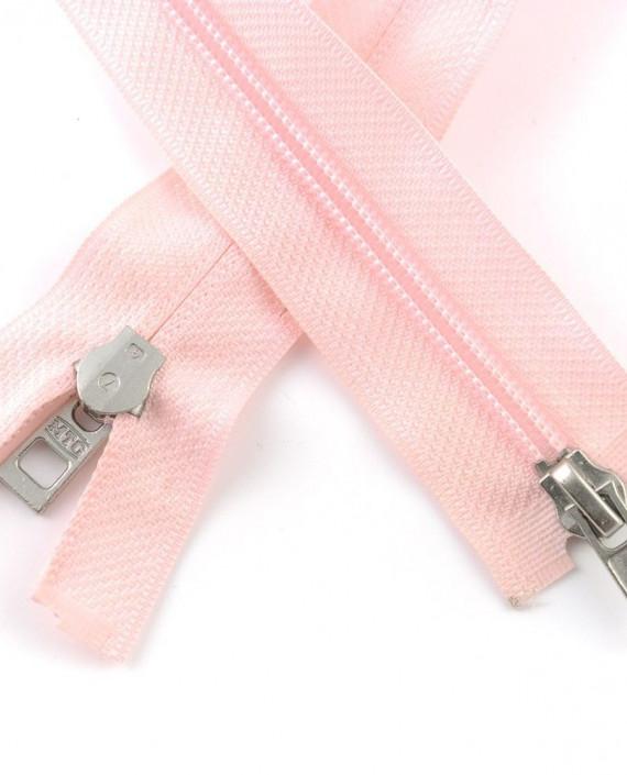 Молния 66 см пластик, двухзамковая 0962 цвет розовый картинка 2