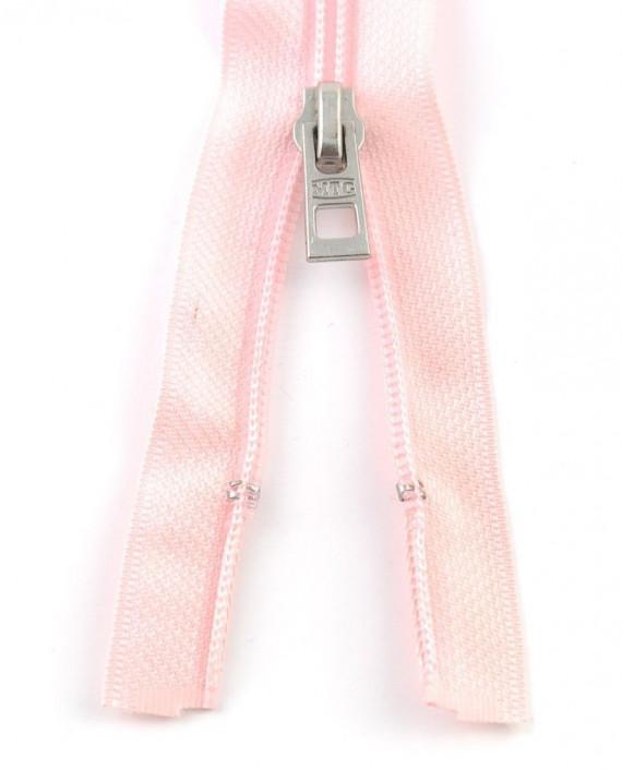 Молния 66 см пластик, двухзамковая 0962 цвет розовый картинка 1