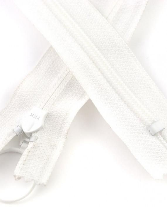 Молния 78 см пластик, неразъемная, декоративная 0924 цвет белый картинка 1