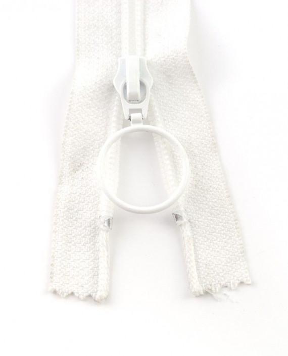 Молния 78 см пластик, неразъемная, декоративная 0924 цвет белый картинка 2
