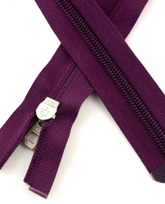 Молния 80 см пластик, разъемная 0929 цвет фиолетовый картинка 1
