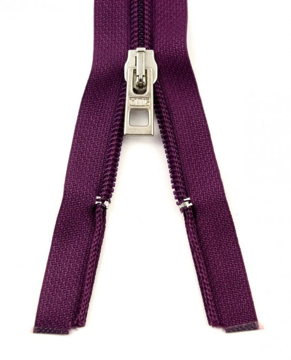 Молния 80 см пластик, разъемная 0929 цвет фиолетовый картинка 2