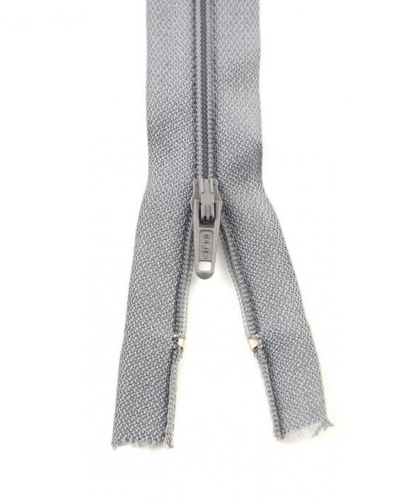 Молния 80 см пластик, неразъемная 0933 цвет серый картинка 2