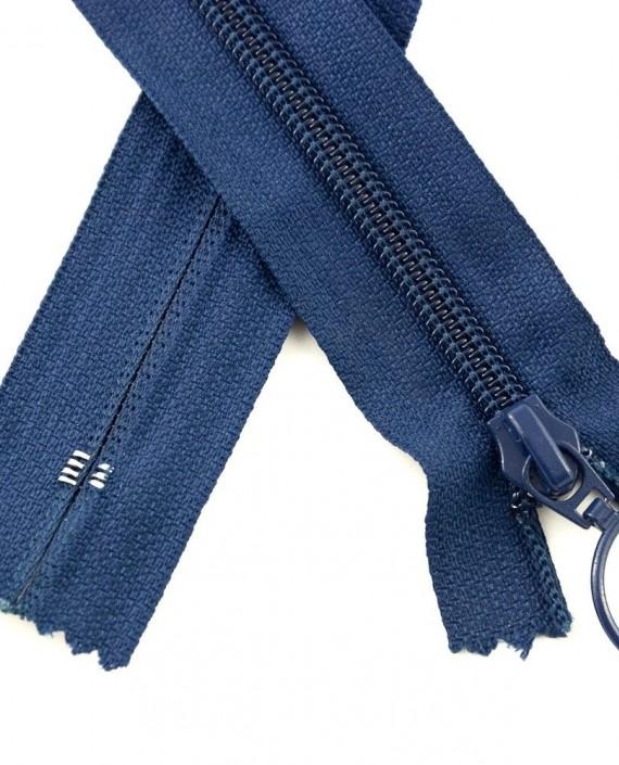 Молния 80 см пластик, неразъемная, декоративная 0935 цвет синий картинка