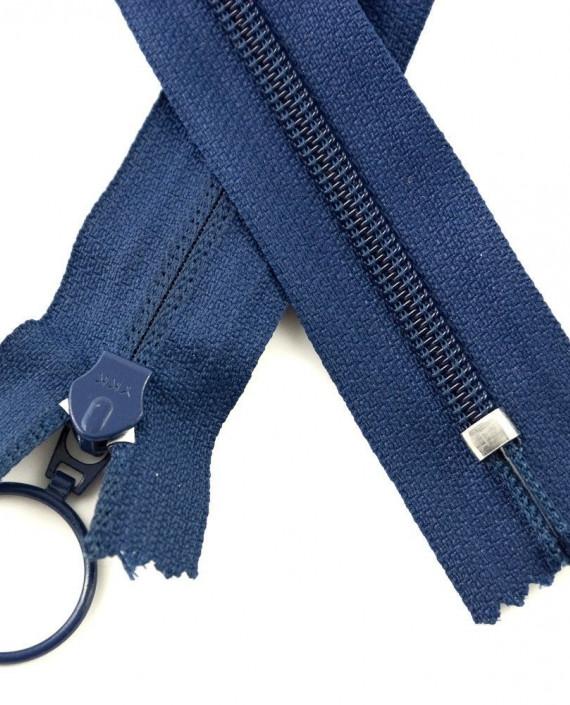 Молния 80 см пластик, неразъемная, декоративная 0935 цвет синий картинка 1