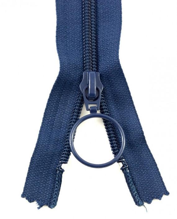 Молния 80 см пластик, неразъемная, декоративная 0935 цвет синий картинка 2