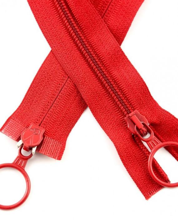 Молния 80 см пластик, двухзамковая, декоративная 0937 цвет красный картинка