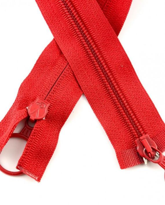 Молния 80 см пластик, двухзамковая, декоративная 0937 цвет красный картинка 1