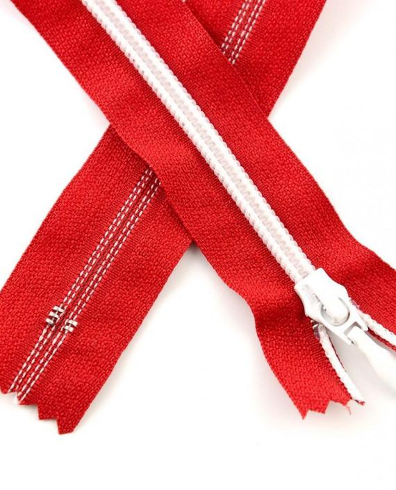 Молния 80 см пластик, неразъемная, декоративная 0939 цвет красный картинка
