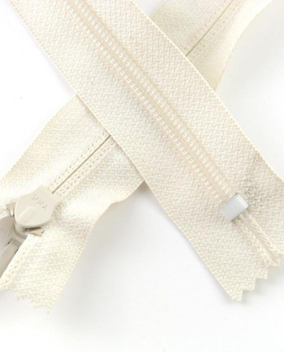 Молния 80 см пластик, неразъемная, декоративная 0941 цвет белый картинка 1