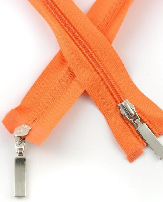 Молния 85 см пластик, двухзамковая 0943 цвет оранжевый картинка