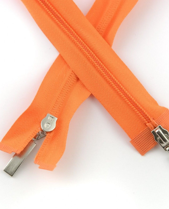 Молния 85 см пластик, двухзамковая 0943 цвет оранжевый картинка 1