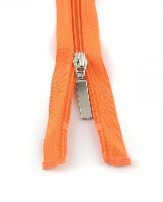 Молния 85 см пластик, двухзамковая 0943 цвет оранжевый картинка 2