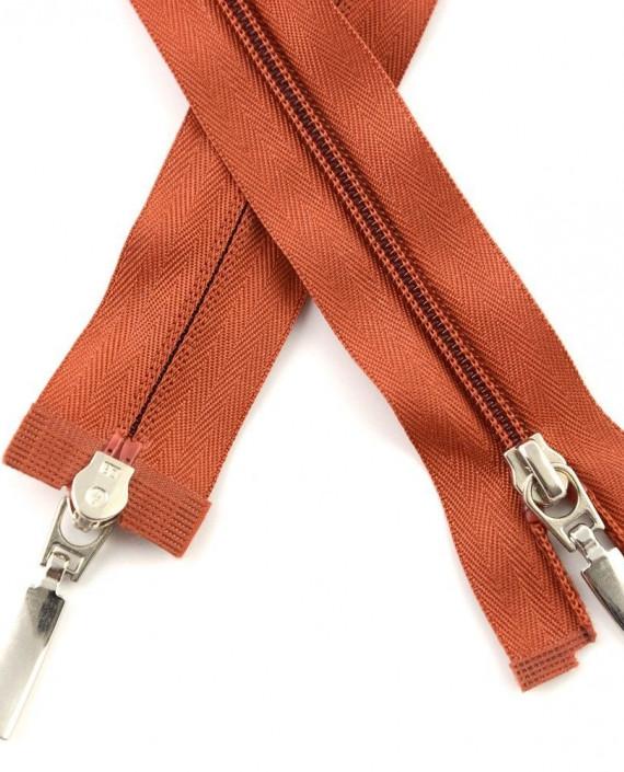 Молния 84 см пластик, двухзамковая 0945 цвет оранжевый картинка
