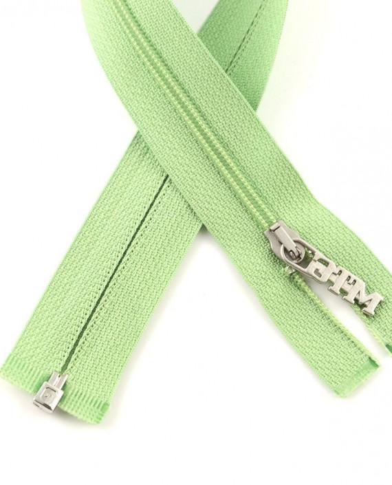 Молния 84 см пластик, разъемная, декоративная 0946 цвет зеленый картинка