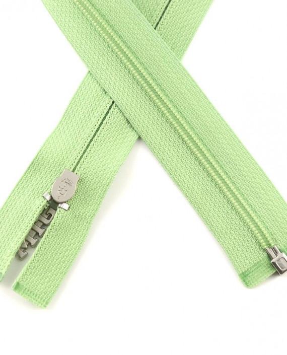 Молния 84 см пластик, разъемная, декоративная 0946 цвет зеленый картинка 1