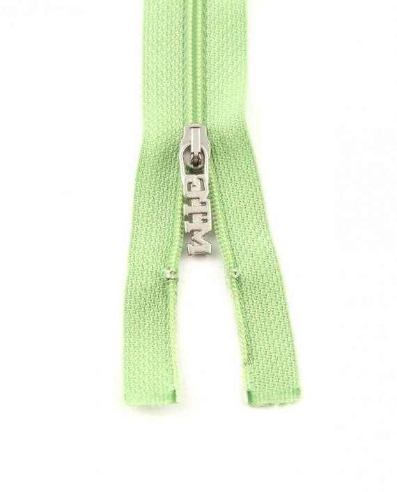 Молния 84 см пластик, разъемная, декоративная 0946 цвет зеленый картинка 2