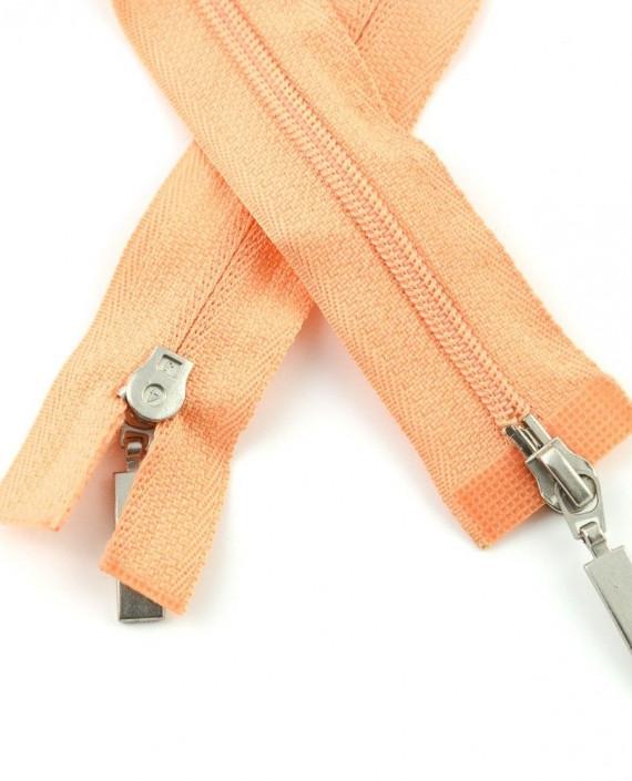Молния 89 см пластик, двухзамковая 0956 цвет оранжевый картинка 1