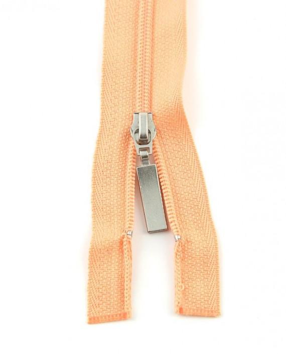 Молния 89 см пластик, двухзамковая 0956 цвет оранжевый картинка 2