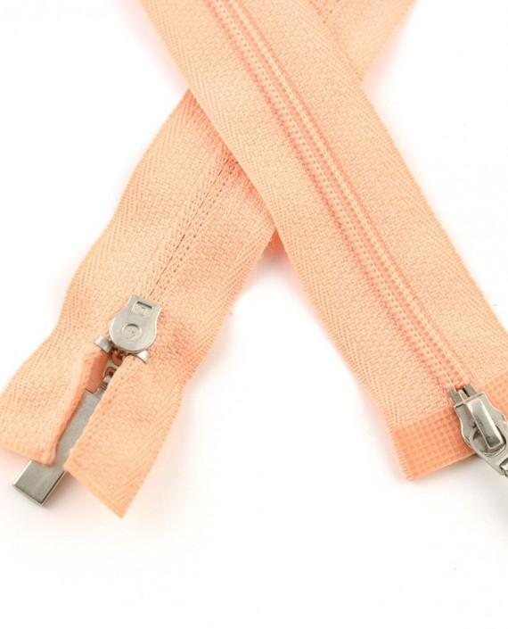 Молния 89 см пластик, двухзамковая 0949 цвет розовый картинка 1