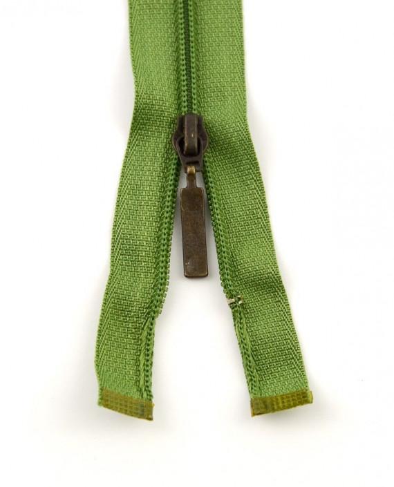 Молния 98 см пластик, двухзамковая 0950 цвет зеленый картинка 2