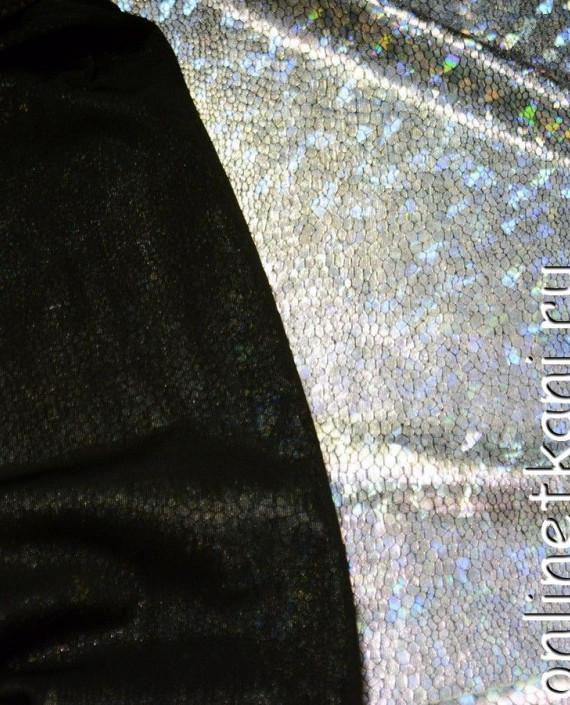 Ткань Голограмма 028 цвет серебро картинка 2