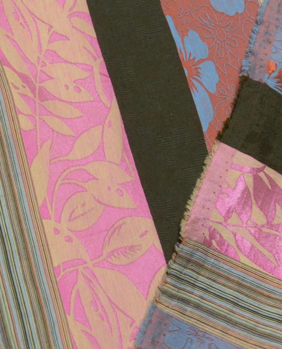 Ткань Портьерная 0677 цвет разноцветный полоска картинка 2