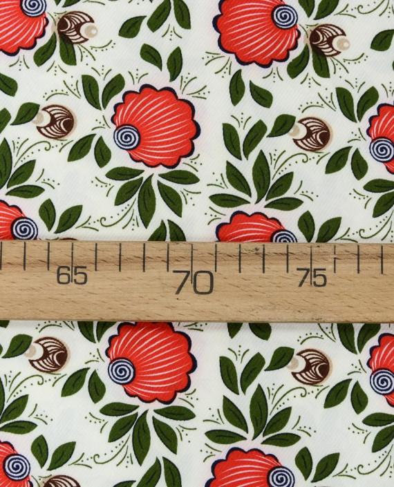 Плательная ткань 0879 цвет разноцветный цветочный картинка 2